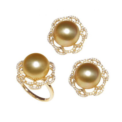 Pearl Set Rings Earring 1