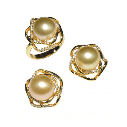 Pearl Set Rings Earring 2
