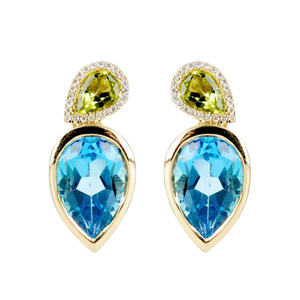 Earring Colored Stone